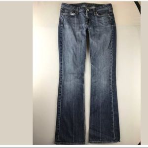 7 For All Mankind Flynt Boot Cut Distressed Denim